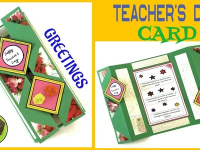 "Tutorial to make ""Teacher's Day Card   Greeting Card"" - Easy & Simple   DIY   Handmade"