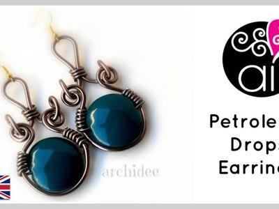 Tutorial Wire Petroleum Drops Earrings | DIY Easy.Beginners | ENG