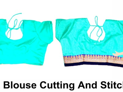 Belt Blouse Cutting And Stitching | DIY - Tailoring With Usha