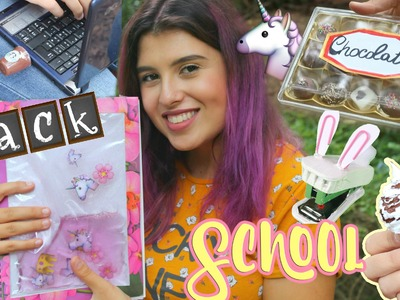 DIY BACK TO SCHOOL! NoteBOOK UNICORNO TUMBLR, GOMMINE STARBUCKS fai da te ecc!
