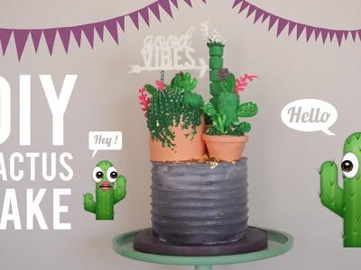 DIY Cactus Cake   Most Satisfying Cake Decorating Video   Greggy Soriano