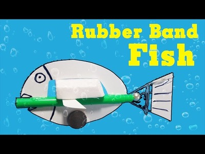DIY - How to make Rubber Band Fish can swim - Creative toys - design by Project your mind
