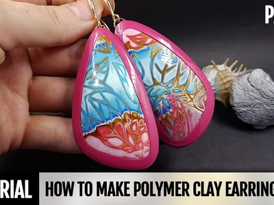 DIY Part 2. How to make Polymer Clay Amazing Earrings - Hidden Magic Technique