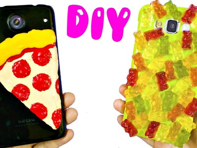 DIY PHONE CASES | PIZZA & GUMMY BEARS