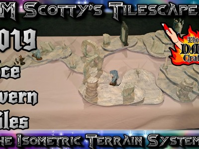 Easy DIY ICE CAVERN TILES for D&D and Pathfinder (DM Scotty's TILESCAPES #019)