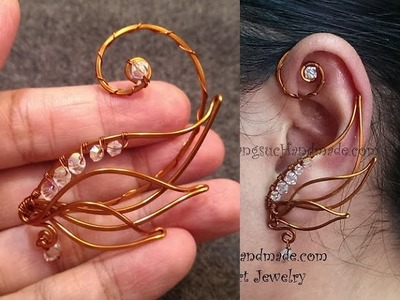 Handmade jewelry - Wire Jewelry Lessons - DIY - How to make ear cuff
