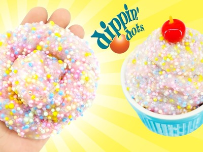 How to make DIPPIN' DOTS ICE CREAM SLIME DIY - KidsMon!! ♥