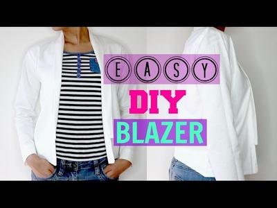 How to make easy DIY Blazer step by step tutorial (Beginners  Friendly)