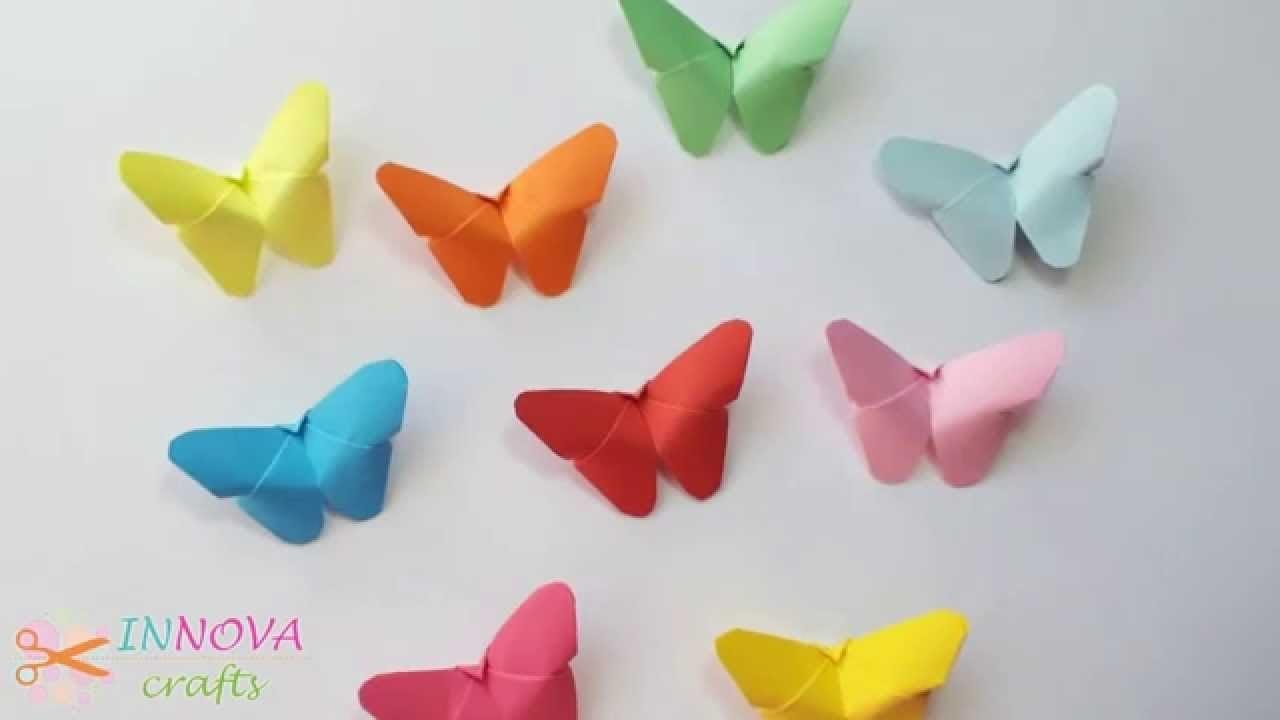 Бабочка из бумаги своими руками инструкция
