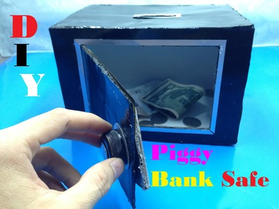 How to make Piggy Bank Safe at Home - DIY - Tutorial