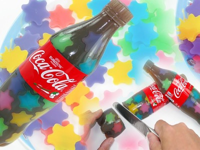 How To Make Rainbow Star Coca Cola Bottle Pudding Jelly DIY