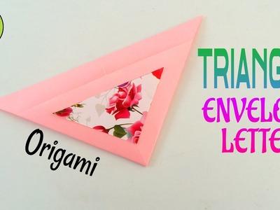 "Origami Tutorial to make "" Triangle Envelope Letter"" - Easy | DIY | Handmade"