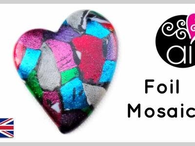 Polymer Clay | Tutorial DIY Easy | Mosaic Foil Effect | ENG