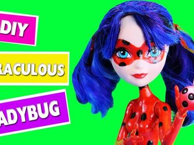 DIY | EASY Miraculous LadyBug Doll Transformation - simplekidscrafts