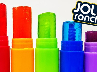 DIY: Make Your Own EDIBLE JOLLY RANCHER LOLLY POP CANDY TREATS using CHAPSTICK! Super Tasty & Easy!