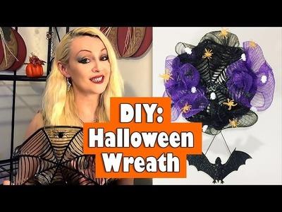 DIY: Spooky Halloween Wreath under $5.00