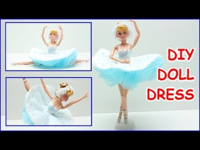 How to Make a Ballerina Doll Dress for Barbie DIY Paper Crafts Doll Dress Fun