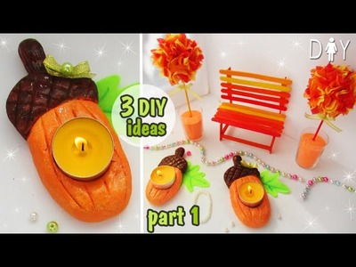 AUTUMN DIY ROOM DECOR. part 1. DESK DECOR