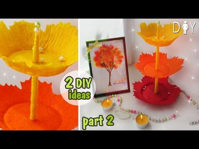 AUTUMN DIY ROOM DECOR. part 2. DESK DECOR. ORGANIZER & PICTURE