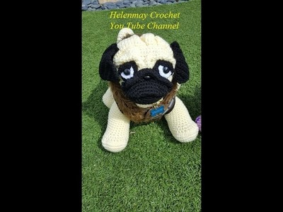 Crochet Adorable Pug Amigurumi Dog Part 1 of 2 DIY Tutorial