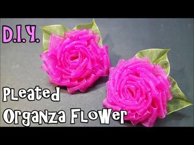 D.I.Y. Pleated Organza Flower | MyInDulzens