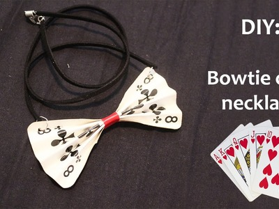 DIY: Bowtie card necklace!