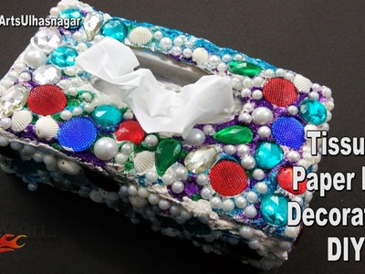 DIY Decorate Tissue Box | How to make | JK Arts 1067
