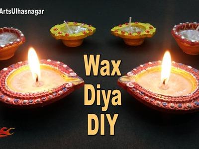 DIY Decorative Wax Diya |  Homemade Votive. Tealight Candles | How to Make | JK Arts 1068