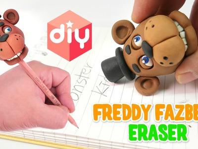 DIY Freddy Fazbear Eraser | Halloween Five Nights at Freddy's Pencil Eraser