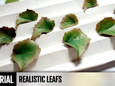 DIY How to make Begonia Leafes from Polymer Clay. No Cutters. No Molds. Video Tutotrial