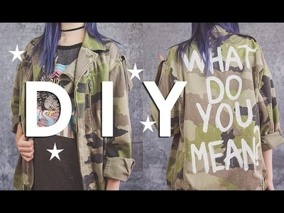 DIY - How To Paint A Jacket | Zoe London