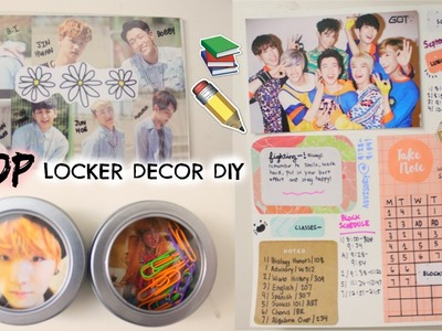 DIY: KPOP LOCKER DECOR! Magnets, White Board and More! | Hunnie Bunnie ♡♡♡