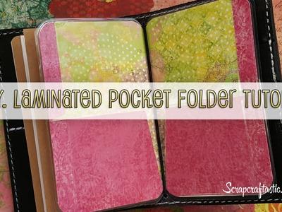 DIY Laminated Pocket Folder for Pocket Size Midori.Fauxdori Style Traveler's Notebook
