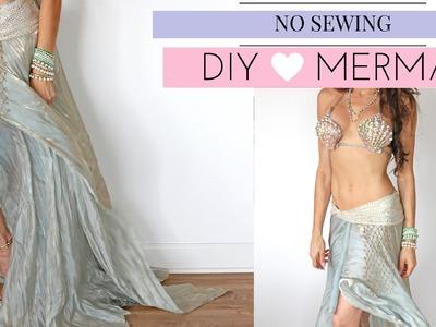 DIY MERMAID COSTUME-NO SEWING!