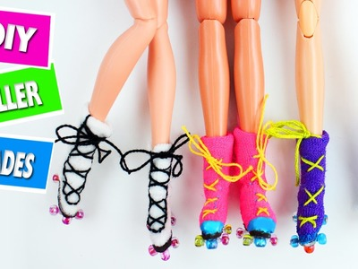 DIY | Miniature Working Doll Roller Blades - Easy Doll Crafts - simplekidscrafts