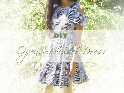 DIY Open Shoulder Dress (without a pattern)
