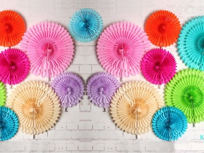 DIY: Paper ceiling. wall hanging Designer Flowers -Party. Home Decoration #DiwaliSpecial