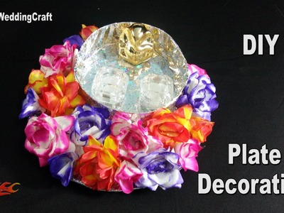 DIY Plate Decoration| Engagement. Wedding Ring Platter | How to make | JK Wedding Craft 110