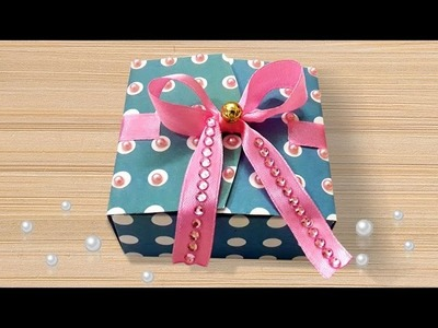 DIY Projects : How to Make Cute DIY Paper Giwali Gift Box Using FREE Template | Christmas Gift Box