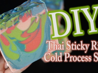 DIY Soap Making Drop Swirl with Thai Sticky Rice