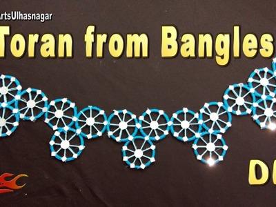 DIY Toran. Bandhanwar from waste bangles   How to make   JK Arts 1066