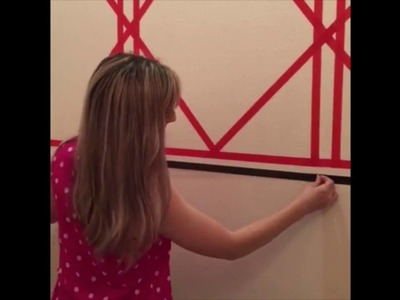 DIY Washi Tape Wallpaper