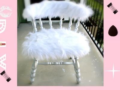 Easiest DIY EVER! :| Faux Fur Vanity Chair