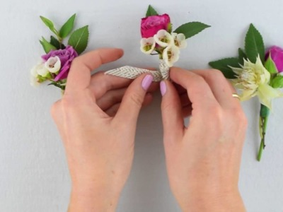 Flower Moxie DIY Boutonniere and Corsages  ~SUPER FAST TUTORIAL~