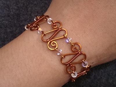 Handmade jewelry - Wire Jewelry Lessons - DIY - How to make bracelet