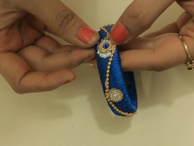 How To Design Silk Thread Kada Beautiful Kangan Bangle DIY At Home With Me Step by Step