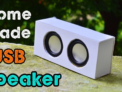 How to Make a USB Speaker at Home - DIY 2.0 Speaker - Very Simple