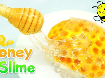 How to make Honey Slime DIY - Beehive Slime