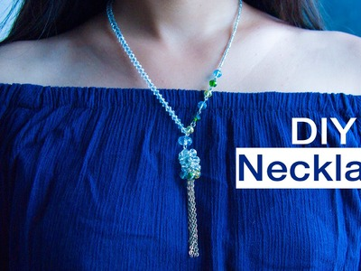 How to make necklace | DIY necklace | jewelry making