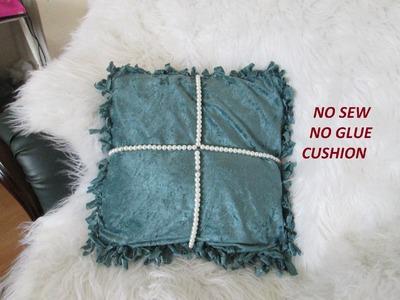 No sew no glue cushion cover.beaded cushion cover DIY